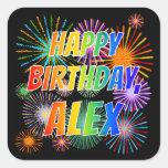 """[ Thumbnail: First Name """"Alex"""", Fun """"Happy Birthday"""" Sticker ]"""