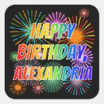 """[ Thumbnail: First Name """"Alexandria"""", Fun """"Happy Birthday"""" Sticker ]"""
