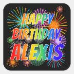 """[ Thumbnail: First Name """"Alexis"""", Fun """"Happy Birthday"""" Sticker ]"""