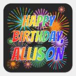 """[ Thumbnail: First Name """"Allison"""", Fun """"Happy Birthday"""" Sticker ]"""