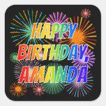 """[ Thumbnail: First Name """"Amanda"""", Fun """"Happy Birthday"""" Sticker ]"""