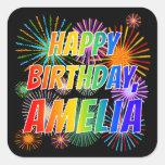 """[ Thumbnail: First Name """"Amelia"""", Fun """"Happy Birthday"""" Sticker ]"""