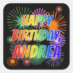 "[ Thumbnail: First Name ""Andrea"", Fun ""Happy Birthday"" Sticker ]"
