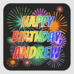 "[ Thumbnail: First Name ""Andrew"", Fun ""Happy Birthday"" Sticker ]"