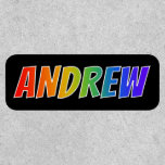"""[ Thumbnail: First Name """"Andrew"""" ~ Fun Rainbow Coloring ]"""