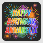 "[ Thumbnail: First Name ""Annabelle"", Fun ""Happy Birthday"" Sticker ]"