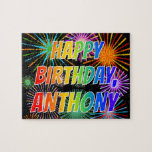 """[ Thumbnail: First Name """"Anthony"""", Fun """"Happy Birthday"""" Jigsaw Puzzle ]"""