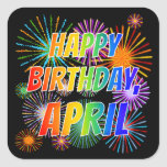"""[ Thumbnail: First Name """"April"""", Fun """"Happy Birthday"""" Sticker ]"""