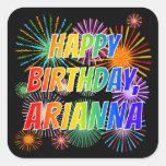 """[ Thumbnail: First Name """"Arianna"""", Fun """"Happy Birthday"""" Sticker ]"""