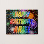 "[ Thumbnail: First Name ""Ariel"", Fun ""Happy Birthday"" Jigsaw Puzzle ]"