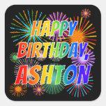 """[ Thumbnail: First Name """"Ashton"""", Fun """"Happy Birthday"""" Sticker ]"""