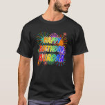 "[ Thumbnail: First Name ""Aurora"", Fun ""Happy Birthday"" T-Shirt ]"