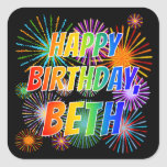 "[ Thumbnail: First Name ""Beth"", Fun ""Happy Birthday"" Sticker ]"