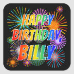 "[ Thumbnail: First Name ""Billy"", Fun ""Happy Birthday"" Sticker ]"