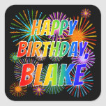 "[ Thumbnail: First Name ""Blake"", Fun ""Happy Birthday"" Sticker ]"