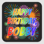 "[ Thumbnail: First Name ""Bobby"", Fun ""Happy Birthday"" Sticker ]"