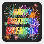 "[ Thumbnail: First Name ""Brendan"", Fun ""Happy Birthday"" Sticker ]"