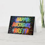 "[ Thumbnail: First Name ""Brett"" Fun ""Happy Birthday"" Card ]"