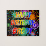"[ Thumbnail: First Name ""Brody"", Fun ""Happy Birthday"" Jigsaw Puzzle ]"