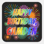 "[ Thumbnail: First Name ""Camden"", Fun ""Happy Birthday"" Sticker ]"