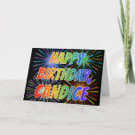 "[ Thumbnail: First Name ""Candice"" Fun ""Happy Birthday"" Card ]"