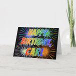 "[ Thumbnail: First Name ""Carl"" Fun ""Happy Birthday"" Card ]"