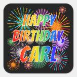 "[ Thumbnail: First Name ""Carl"", Fun ""Happy Birthday"" Sticker ]"
