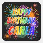 "[ Thumbnail: First Name ""Carla"", Fun ""Happy Birthday"" Sticker ]"