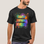 "[ Thumbnail: First Name ""Carlos"", Fun ""Happy Birthday"" T-Shirt ]"