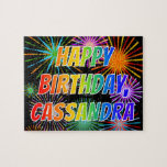 "[ Thumbnail: First Name ""Cassandra"", Fun ""Happy Birthday"" Jigsaw Puzzle ]"
