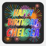 "[ Thumbnail: First Name ""Chelsea"", Fun ""Happy Birthday"" Sticker ]"
