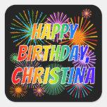 """[ Thumbnail: First Name """"Christina"""", Fun """"Happy Birthday"""" Sticker ]"""