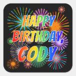 "[ Thumbnail: First Name ""Cody"", Fun ""Happy Birthday"" Sticker ]"