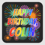 "[ Thumbnail: First Name ""Colin"", Fun ""Happy Birthday"" Sticker ]"