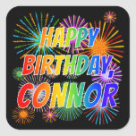 "[ Thumbnail: First Name ""Connor"", Fun ""Happy Birthday"" Sticker ]"
