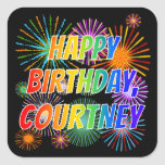"[ Thumbnail: First Name ""Courtney"", Fun ""Happy Birthday"" Sticker ]"