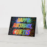 "[ Thumbnail: First Name ""Curtis"" Fun ""Happy Birthday"" Card ]"