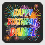 "[ Thumbnail: First Name ""Daniel"", Fun ""Happy Birthday"" Sticker ]"