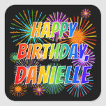 "[ Thumbnail: First Name ""Danielle"", Fun ""Happy Birthday"" Sticker ]"