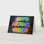 "[ Thumbnail: First Name ""David"" Fun ""Happy Birthday"" Card ]"