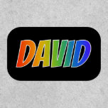 "[ Thumbnail: First Name ""David"" ~ Fun Rainbow Coloring ]"