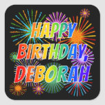 "[ Thumbnail: First Name ""Deborah"", Fun ""Happy Birthday"" Sticker ]"