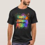 "[ Thumbnail: First Name ""Dillon"", Fun ""Happy Birthday"" T-Shirt ]"