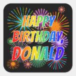 "[ Thumbnail: First Name ""Donald"", Fun ""Happy Birthday"" Sticker ]"