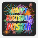 """[ Thumbnail: First Name """"Dustin"""", Fun """"Happy Birthday"""" Sticker ]"""
