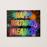"[ Thumbnail: First Name ""Eleanor"", Fun ""Happy Birthday"" Jigsaw Puzzle ]"