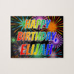 "[ Thumbnail: First Name ""Elijah"", Fun ""Happy Birthday"" Jigsaw Puzzle ]"