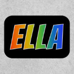 "[ Thumbnail: First Name ""Ella"" ~ Fun Rainbow Coloring ]"