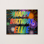 "[ Thumbnail: First Name ""Ellie"", Fun ""Happy Birthday"" Jigsaw Puzzle ]"