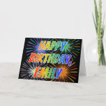 "[ Thumbnail: First Name ""Emily"" Fun ""Happy Birthday"" Card ]"